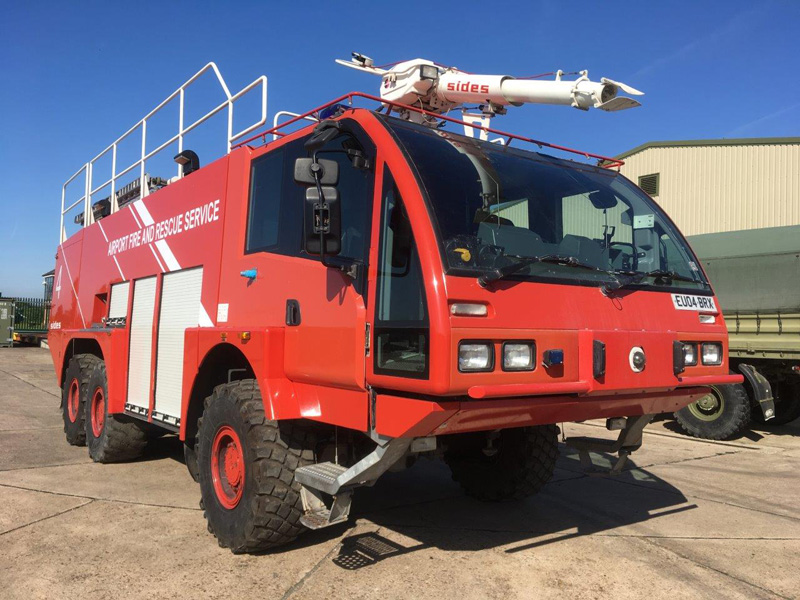 MoD Surplus, ex army military vehicles for sale - Sides VMA 112 6x6 Airport Crash Tender / Fire Appliance