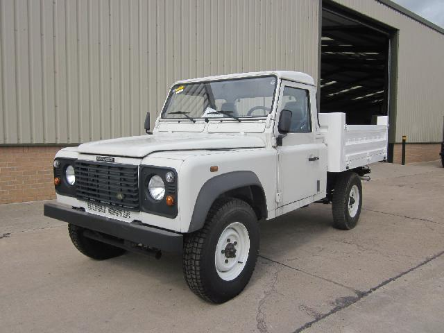 Unused Rover Defender 110 LHD pickups - ex military vehicles for sale, mod surplus