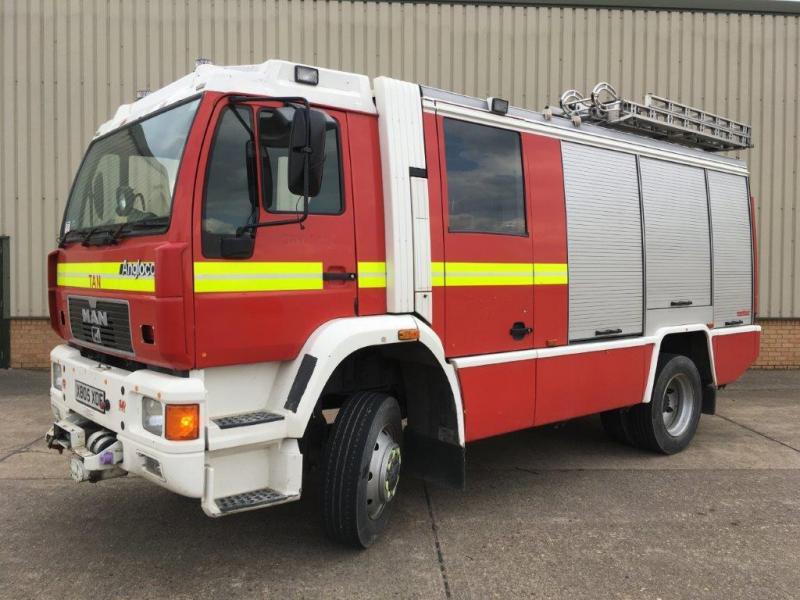 MAN RESCUE PUMP (FIRE APPLIANCE) 14.284 4x4 - ex military vehicles for sale, mod surplus