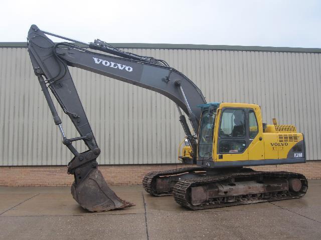 Volvo EC210 excavator - ex military vehicles for sale, mod surplus