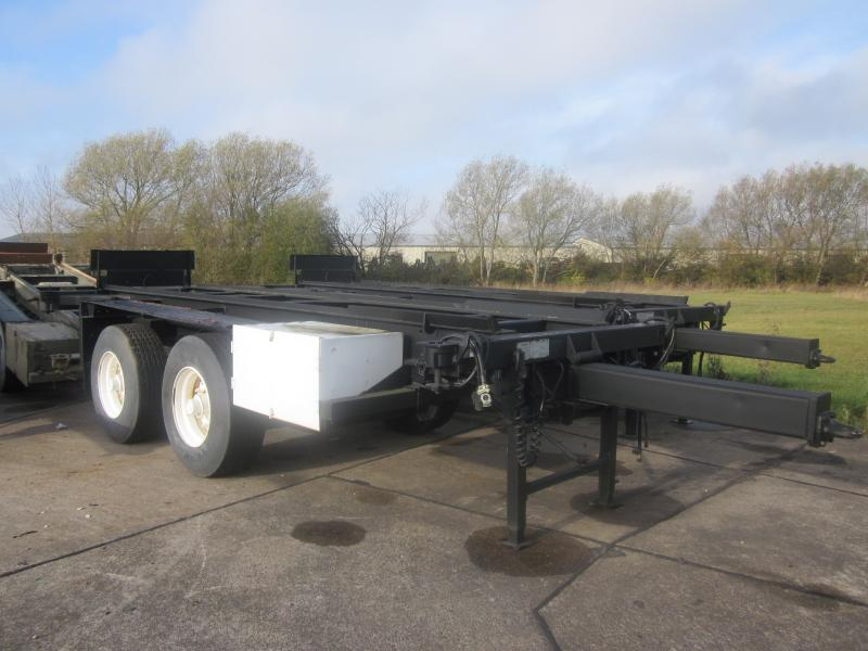 MoD Surplus, ex army military vehicles for sale - RB Tandem axle 20ft ISO drawbar container trailers