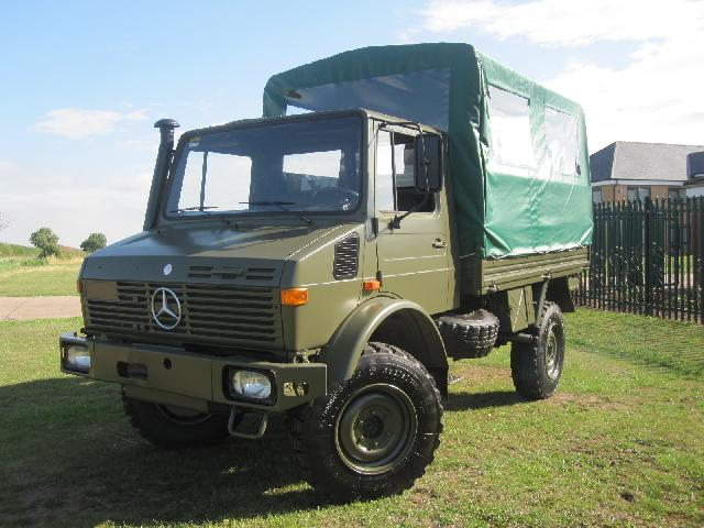 MoD Surplus, ex army military vehicles for sale - Mercedes Unimog U1300L 4x4 Shoot Vehicle