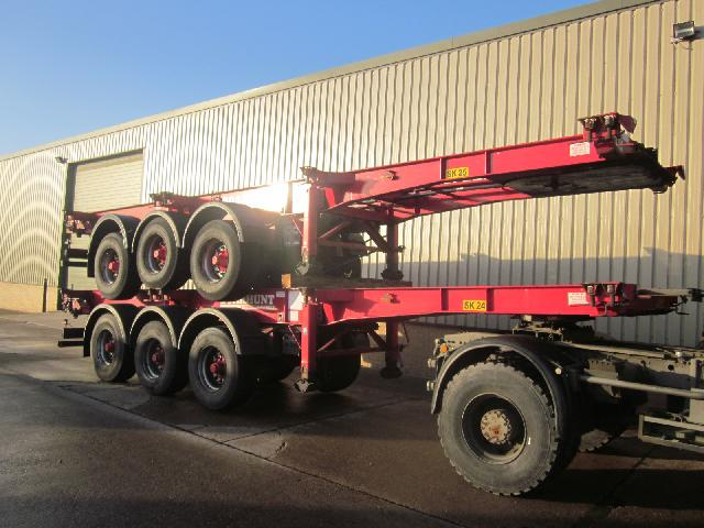SDC skeleton container trailer - ex military vehicles for sale, mod surplus