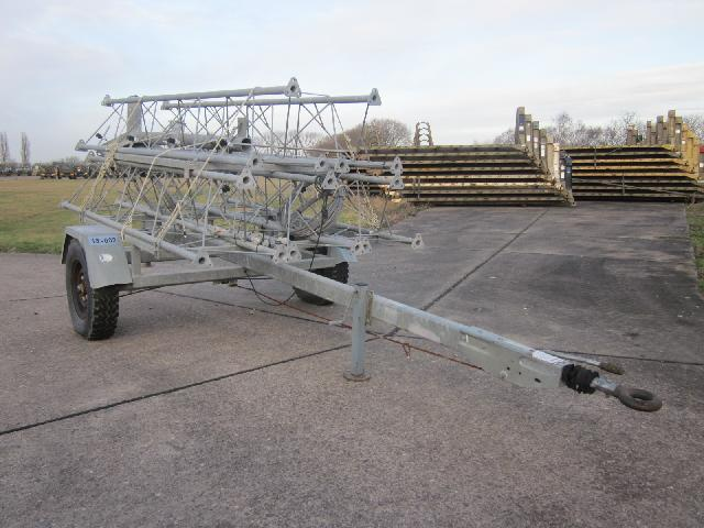 Aerial mast trailers - ex military vehicles for sale, mod surplus