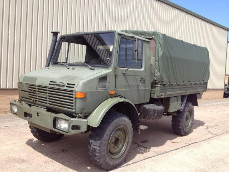 MoD Surplus, ex army military vehicles for sale - Mercedes unimog U1300L troop carrier or shoot vehicle