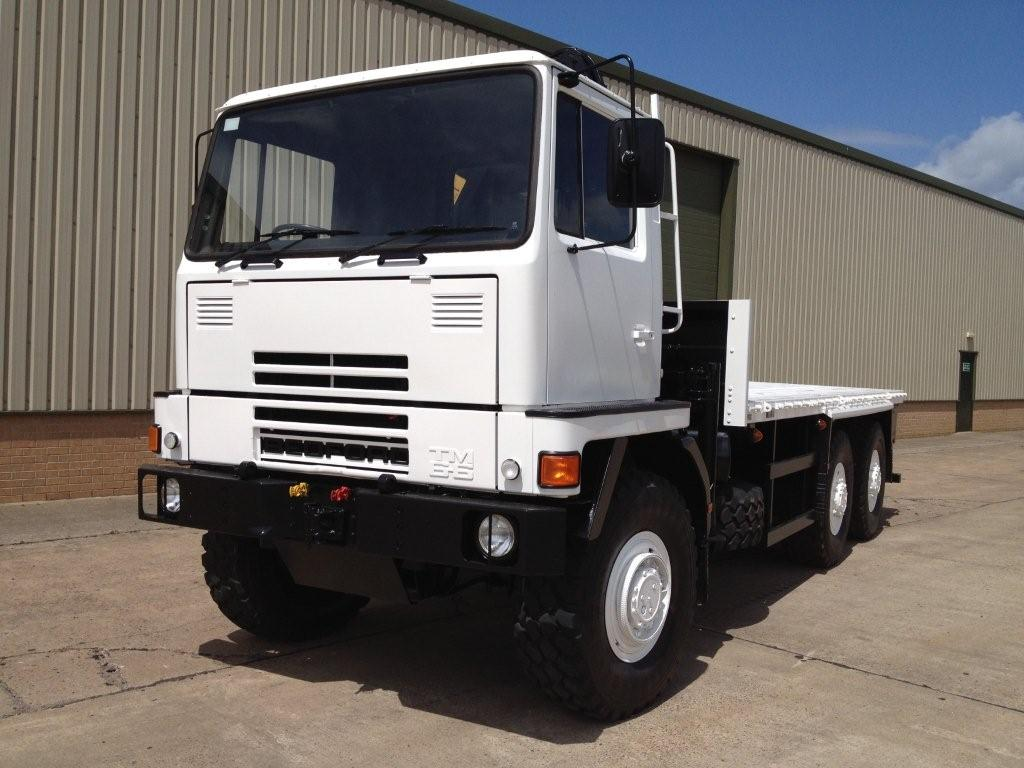 military vehicles for sale - Bedford TM 6x6 Flat Bed Cargo Truck with Atlas Crane