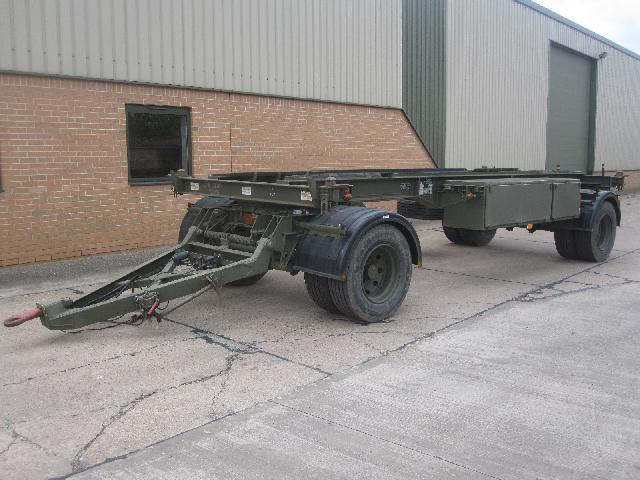 military vehicles for sale - King 20ft container drawbar trailer