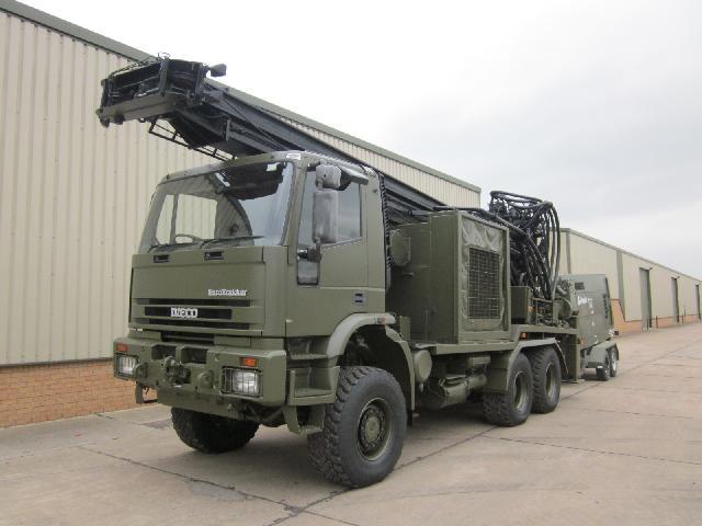 Iveco Eurotrakker 6x6 drilling rig - ex military vehicles for sale, mod surplus