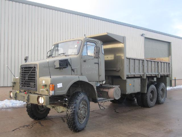 Volvo N10 6x6 tipper truck - ex military vehicles for sale, mod surplus
