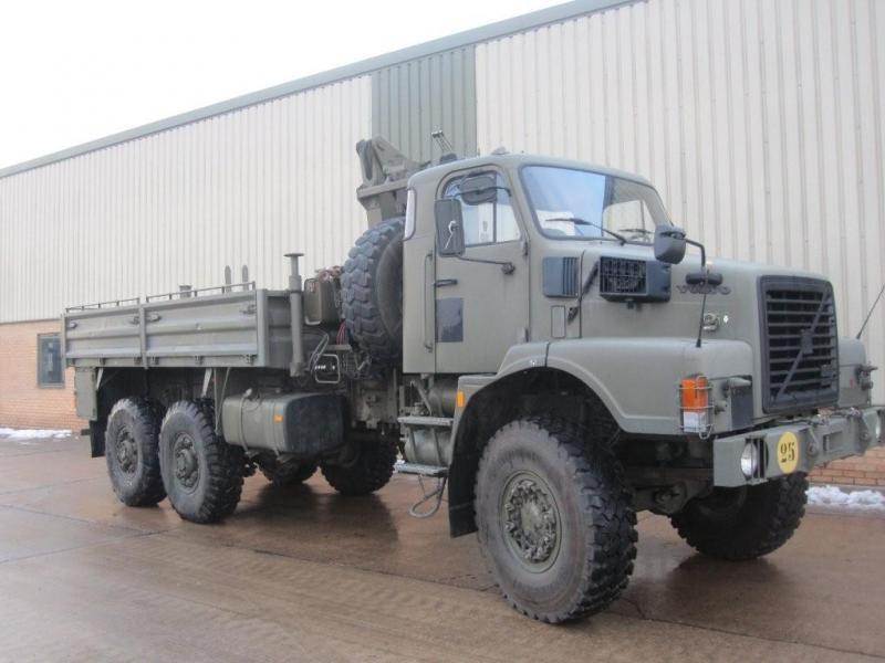 Volvo N10 6x6 cargo/crane truck - ex military vehicles for sale, mod surplus