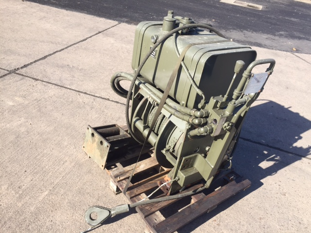 MoD Surplus, ex army military vehicles for sale - Rotzler 11.5 t hydraulic winch with oil tank