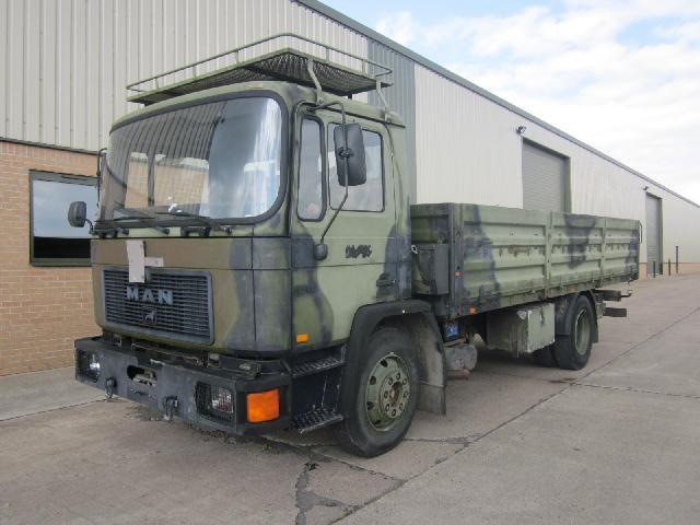 MAN 13.192 4x2 LHD drop side cargo truck - ex military vehicles for sale, mod surplus