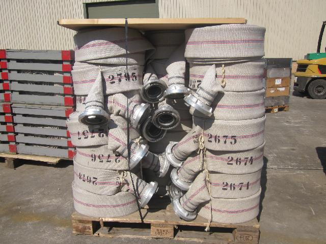 "MoD Surplus, ex army military vehicles for sale - 4"" canvas hose Stortz Couplings"