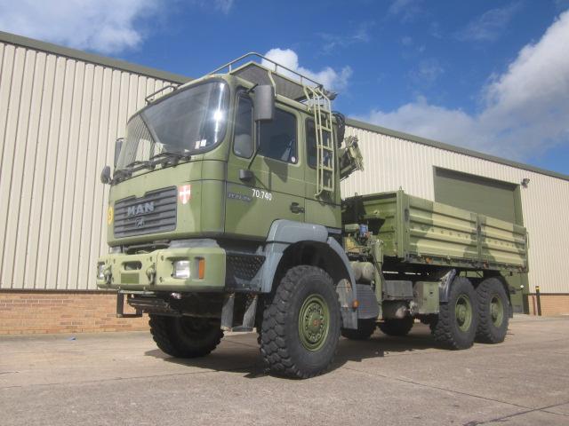 Man 27.310 6x6 cargo with crane - ex military vehicles for sale, mod surplus