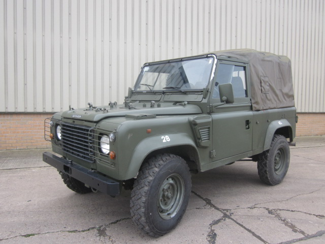 Land rover 90 LHD wolf (Soft Top) - ex military vehicles for sale, mod surplus