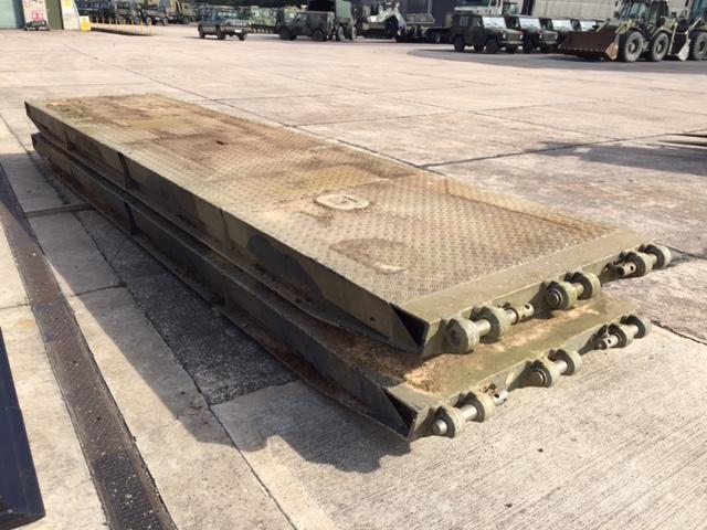 Pair of heavy duty  alloy bridge ramps - ex military vehicles for sale, mod surplus
