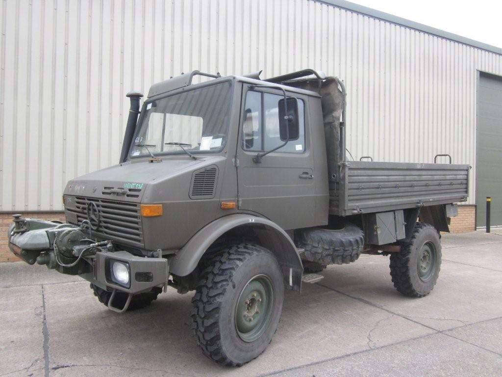 Mercedes unimog U1300L winch truck  - ex military vehicles for sale, mod surplus