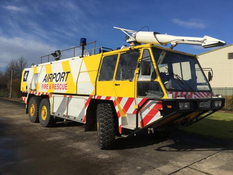 Simon Gloster Protector 6x6 Airport Fire Appliance - ex military vehicles for sale, mod surplus