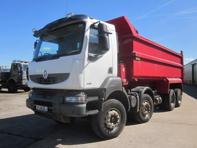 Renault Kerax tipper trucks - ex military vehicles for sale, mod surplus