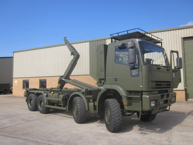 Iveco 410E42 8x8 Drops Hook Loader - ex military vehicles for sale, mod surplus