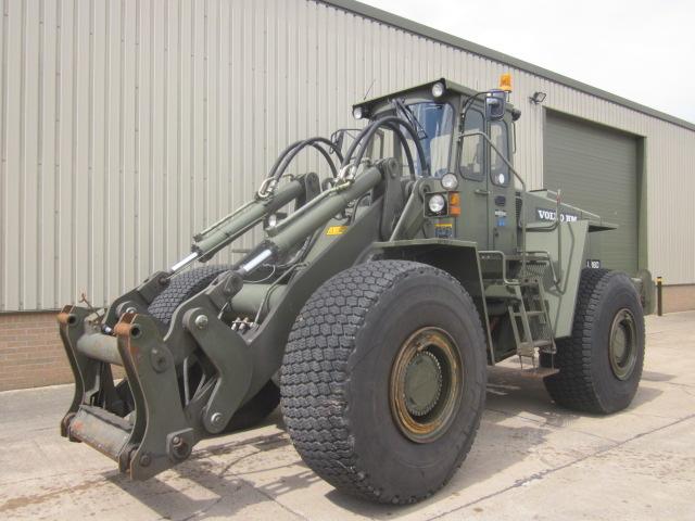 Volvo L160 loader - ex military vehicles for sale, mod surplus