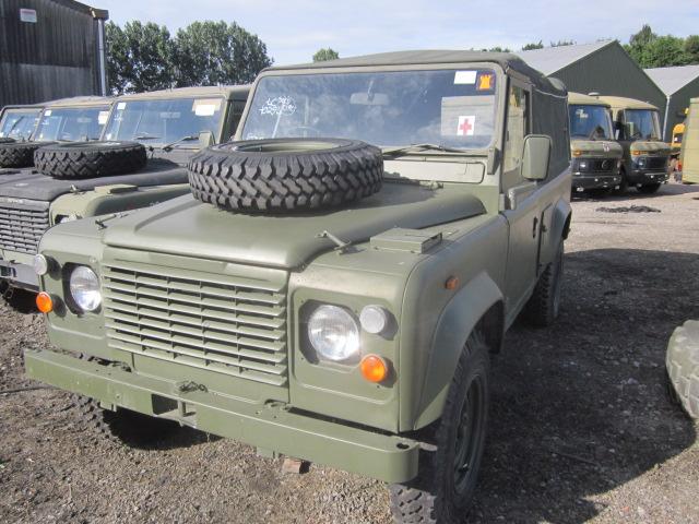 Land Rover Defender 110 2.5L NA Diesel (Soft Top) - ex military vehicles for sale, mod surplus