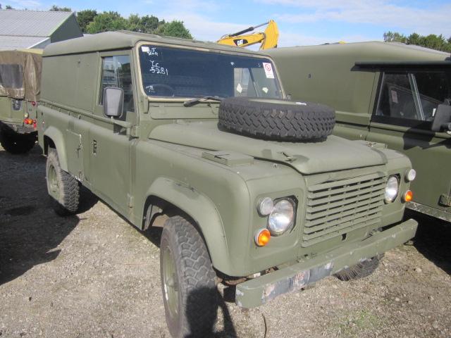 Land Rover Defender 110 2.5L NA Diesel (Hard Top) - ex military vehicles for sale, mod surplus