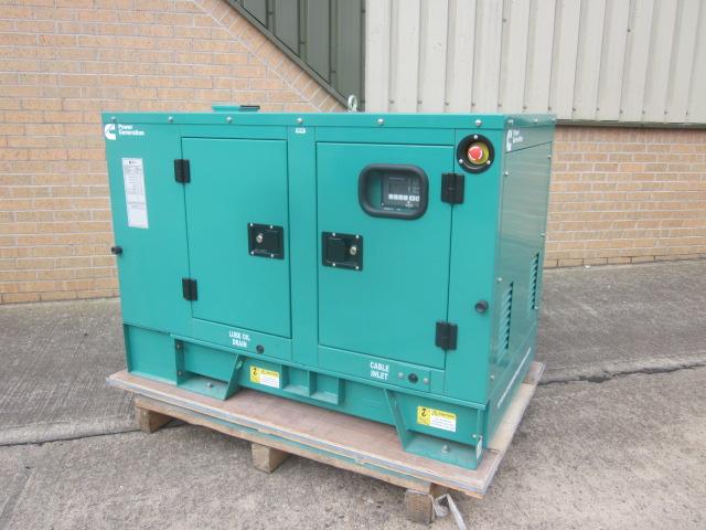 Unused Cummins 3 phase 11 KVA generator - ex military vehicles for sale, mod surplus