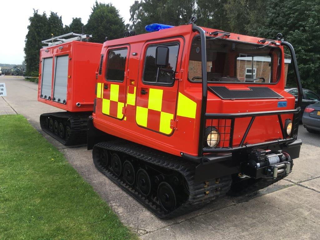 MoD Surplus, ex army military vehicles for sale - Hagglund BV206 ATV Fire Appliance (Fire Chief)