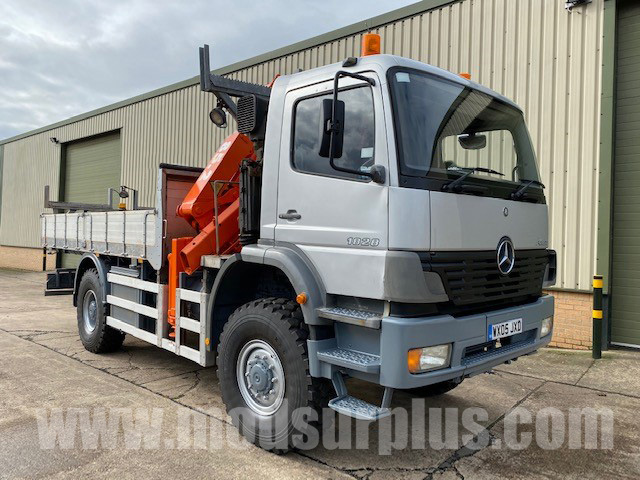 MoD Surplus, ex army military vehicles for sale - Mercedes Atego 1828 4×4 Crane Truck