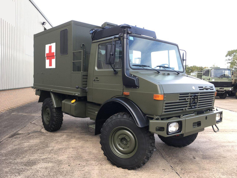 MoD Surplus, ex army military vehicles for sale - Mercedes Benz Unimog U1300L 4x4 Medical Ambulance