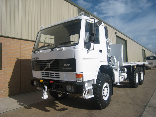 Volvo FL12 6x6 Crane Truck - ex military vehicles for sale, mod surplus