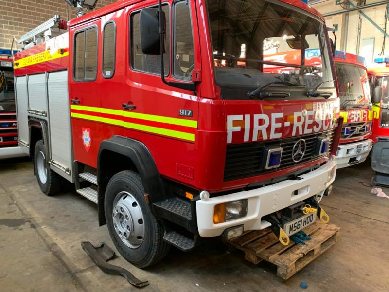 military vehicles for sale - Mercedes 917 4x4 WrL Fire Engine