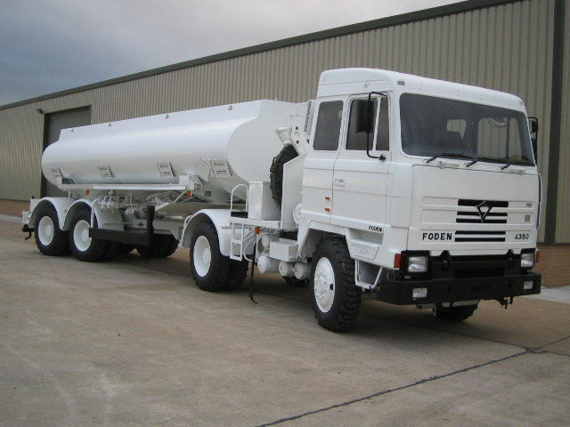 Foden MWAD 8x6 Tanker truck - ex military vehicles for sale, mod surplus