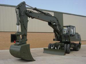 O & K MH6 Wheeled Excavator
