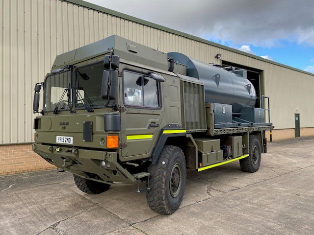 MoD Surplus, ex army military vehicles for sale - Unused MAN 4×4 7,500 Litre Bunded Fuel Tanker