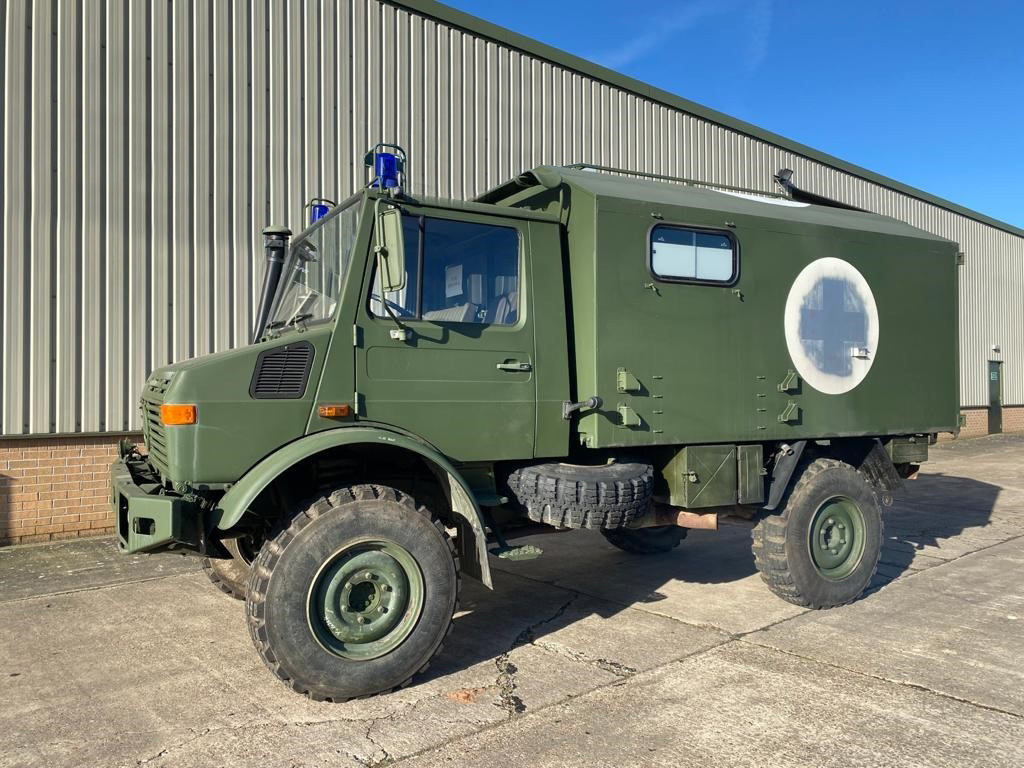 MoD Surplus, ex army military vehicles for sale - Mercedes Benz Unimog U1300L 4x4 Ambulance
