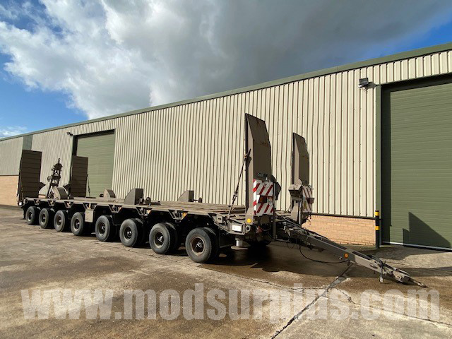 MoD Surplus, ex army military vehicles for sale - Goldhofer 8 Axle Low Loader Drawbar Trailer
