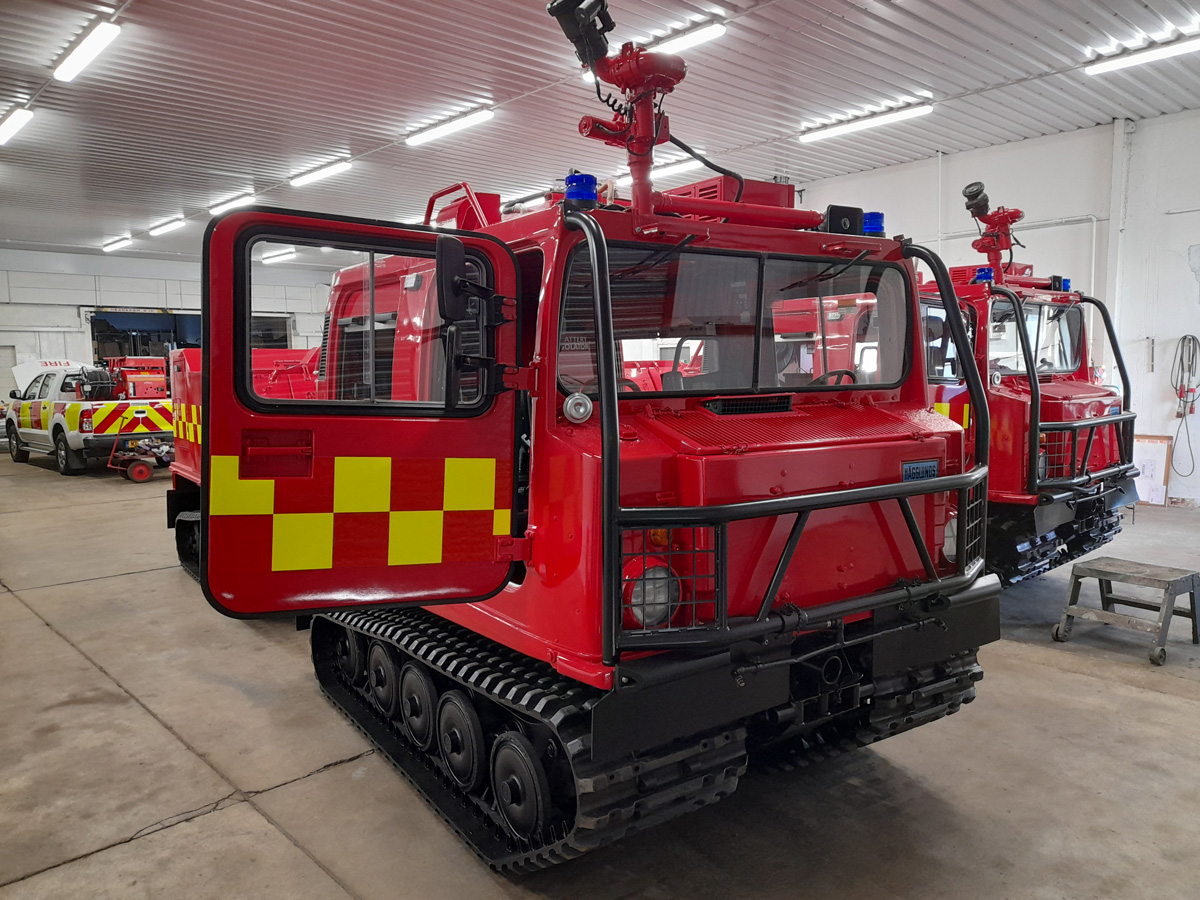 MoD Surplus, ex army military vehicles for sale - Hagglund BV206 Fire engine