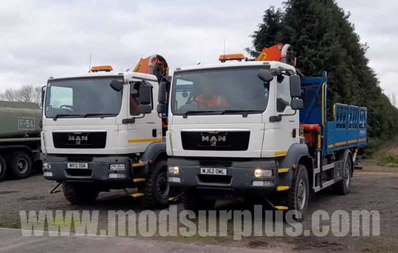 military vehicles for sale - MAN 18.250 4x4 RHD (Automatic) crane truck