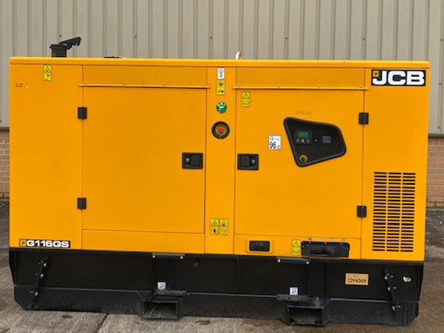 MoD Surplus, ex army military vehicles for sale - Unused JCB 110 KVA Silent Generators