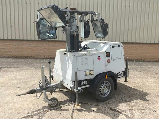 MoD Surplus, ex army military vehicles for sale - SMC TL90 Lighting Tower