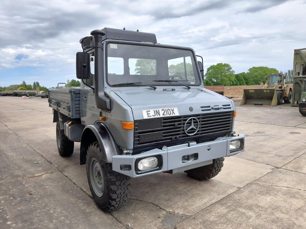 military vehicles for sale - Mercedes Unimog U1300L 4x4 Drop Side Cargo Truck - UK Road Registered