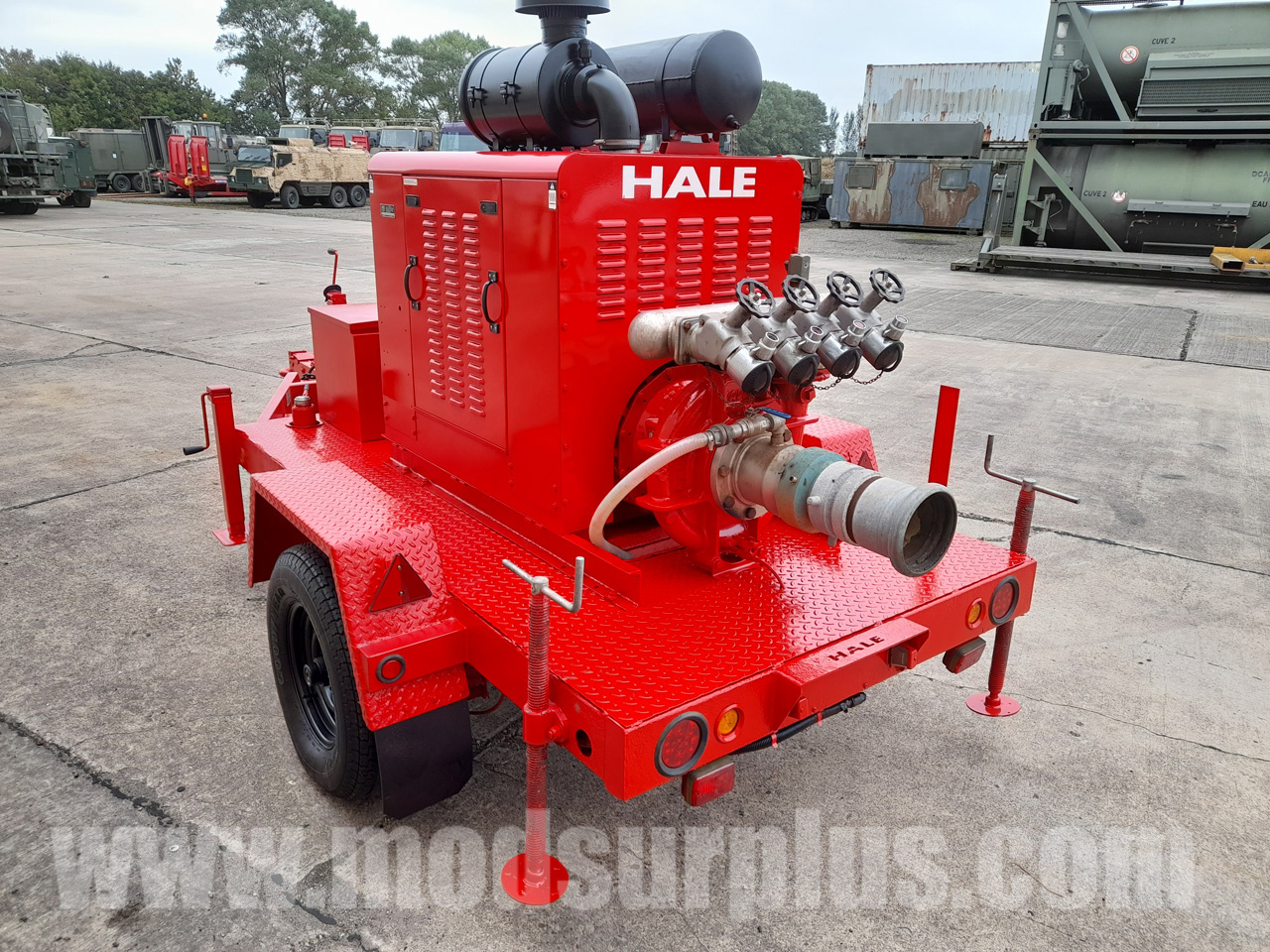 military vehicles for sale - Hale Trailered High Capacity Fire Pump