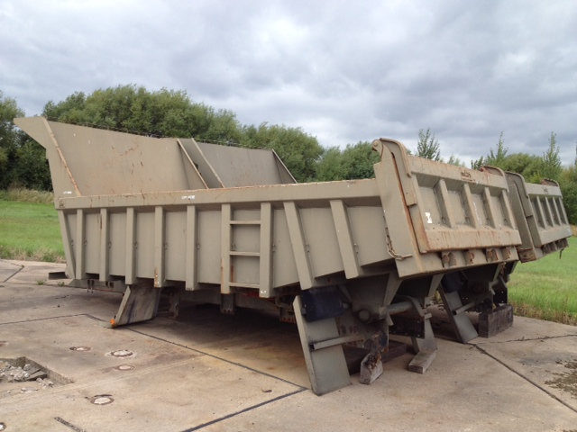 MoD Surplus, ex army military vehicles for sale - Roelof Heavy Duty Steel Rock Bodies with Edbro Tipping gear - Excellent condition