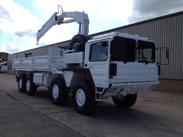 Man 8x8 Crane Truck - ex military vehicles for sale, mod surplus