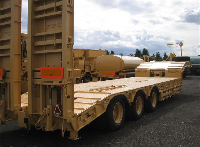 military vehicles for sale - Trailmaster TS45 45,000kg semi low bed trailer